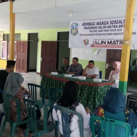 Sosialisasi Program Jalin Matra BRTSM Provinsi