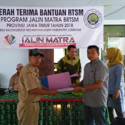 Penyerahan Bantuan RSTM Program Jalin Matra