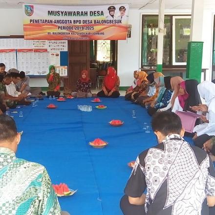 Musdes Penetapan Anggota BPD 2019 - 2025