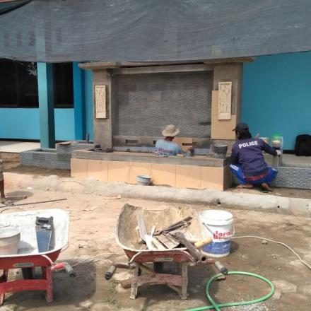 Pembangunan Taman Halaman Gedung Olah Raga 50 - 100 %