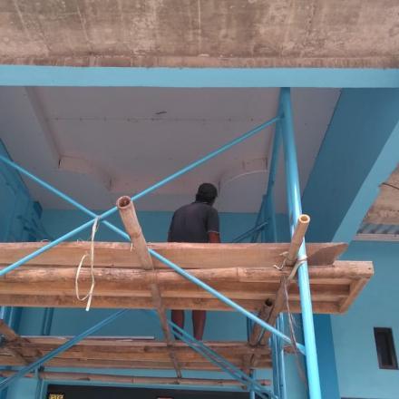 Pembangunan Plavon Gedung