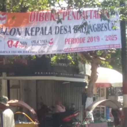 Pembukaan Pendaftaran Bakal Calon Kepala Desa Balongbesuk