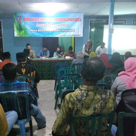 Musyawarah Rencana Pembangunan Desa Tahun 2020