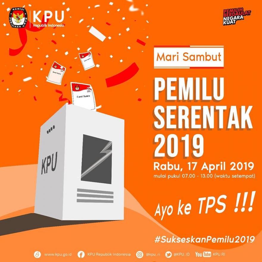 Mari sambut Pemilu Serentak 2019