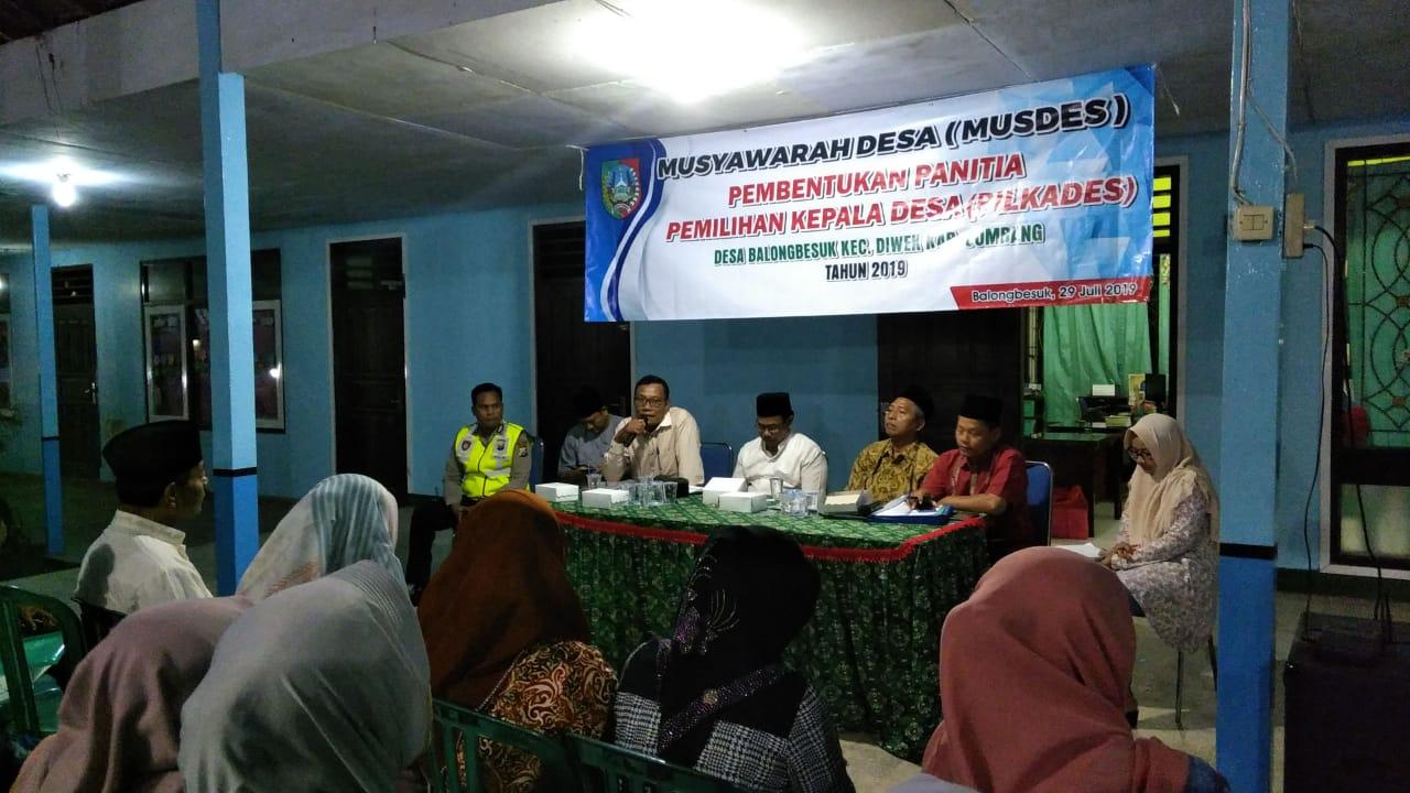 Musdes Pembentukan Panitia Pemilihan Kepala Desa Balongbesuk