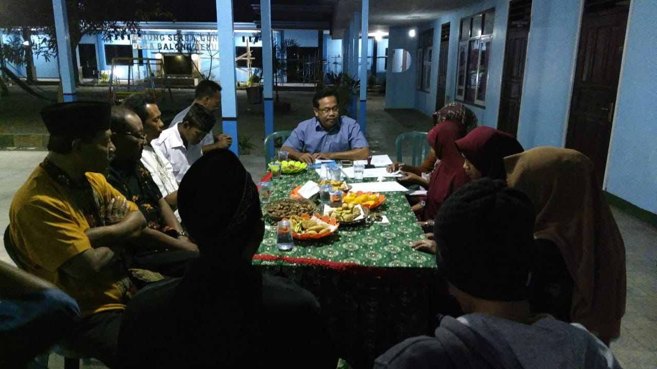 Rapat Internal Panitia Pilkades Balongbesuk